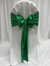 Chair Sashes Green Chair Sashes Great Events Rentals