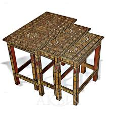 Coffee Table Nest by Mediterranean Levantine U0026 Syrian Furniture Inlaid With Mother Of