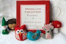 woodland creatures ornaments tessie fay