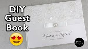 hardcover wedding guest book tutorial diy wedding invitations