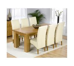 Solid Oak Dining Tables And Chairs Daniela Solid Oak Dining Table And 6 Leather Chairs In