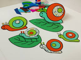 garden snail papercraft instant download printable snail craft