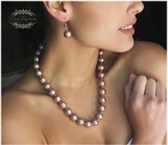 pearl earrings necklace images Bridal jewelry set pearl jewelry set copper pearl necklace jpg