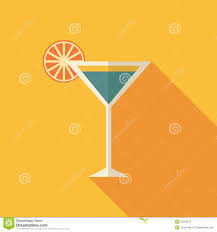 vintage martini illustration cocktail icon in modern flat design long shadow stock vector