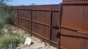 corrugated steel fence and gates affordable fence u0026 gates