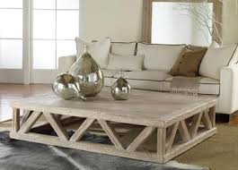 Trestle Coffee Table Large Rustic Trestle Coffee Table Mecox Gardens