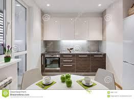 Interior In Kitchen Kitchen Interior In Modern Apartment In Scandinavian Style Stock