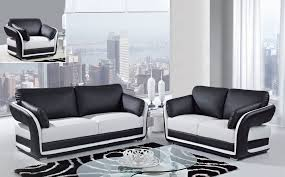 Black Leather Sofa Set Modern Concept Black And White Leather Sofa Set With Image 7 Of 15