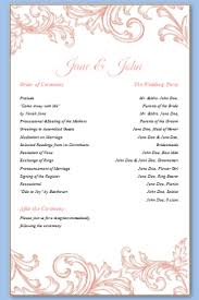 one page wedding program templatebest bussines template best