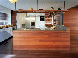 japanese kitchen interior with modern design and striking wooden