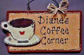 coffee corner personalized name kitchen sign family decor