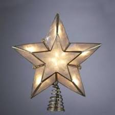 lighted capiz star tree topper 6 lighted gold ivory capiz five point star christmas tree topper