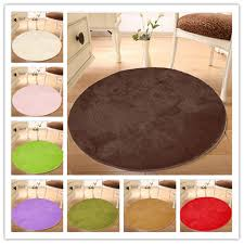 Round Plush Rugs 100 100 Pure Colour Soft Round Shaggy Mat Doorsill Floor Plush