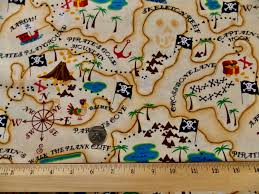 Map Fabric Remnant Pirate Fabric Pirates Map Fabric Hi Fashion Fabrics Kids