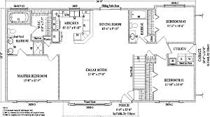 ranch home floor plans wonderful bedroom ranch house plans open floor living room dining