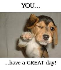 Have A Nice Day Meme - funny puppy you have a great day cheryl ng ng ng ng deleeuw