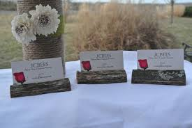 where to buy fall wedding decor wood name card holdertimber table