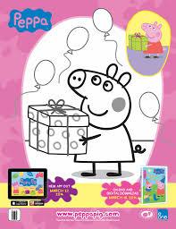printable peppa pig coloring sheet peppa pig birthdays