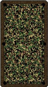 artscape 8 u0027 os green camouflage pool table cloth