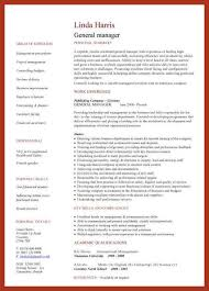 General Manager Resume Example by General Resume Template General Resume Sample