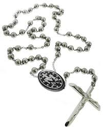 rosary bead necklace jewelry images Catholic men rosary beads pray necklace stainless steel 8 mm jpg