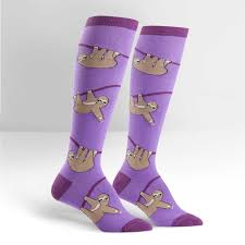 sloth s knee high sock it to me