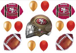 san francisco 49ers super bowl football party balloons decorations