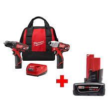 home depot black friday lithium ion cordless power tools milwaukee m12 cordless drill driver impact driver kit w 6 0ah
