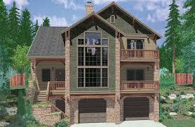steep hillside house plans hillside home plans with basement sloping lot house plans