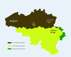 Belgium Language Map Prince Filip Project Phd Cooperation Between Ulg And Uhasselt