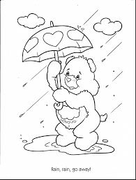 incredible care bears printable coloring pages kids care