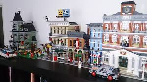 our lego town after adding the detective u0027s office lego
