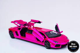 pink lamborghini limousine xe mô hình lamborghini aventador limo tỷ lệ 1 32 blue mô hình
