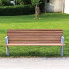 public bench contemporary wooden with backrest vltau by