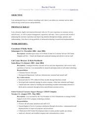 Customer Service Example Resume by Example Of Objective For Resume In Customer Service Saba