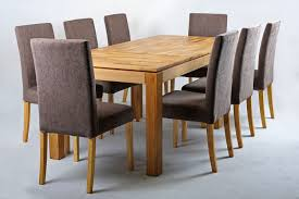 extending table solid oak extending dining table and chairs set chocolate