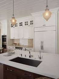 Cottage Kitchen Lighting by Cottage Kitchen With Undermount Sink By Kimberly Larzelere