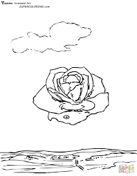 meditative rose by salvador dali coloring page free printable