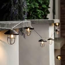 warm white outdoor fairy lights outdoor metal battery lantern lights 10 warm white led u0027s