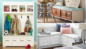 Corner Storage Bench 10 Creative Entry And Storage Bench Plans