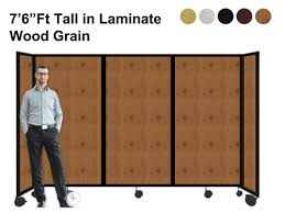 Portable Room Divider 6 Ft Portable Room Divider Partition In Laminate
