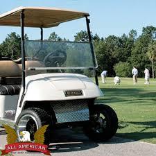 ezgo marathon golf cart all american folding flip windshield