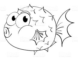 animal outline for puffer fish stock vector art 671602368 istock