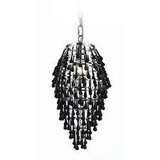 black crystal pendant light swag chandelier pendant light with black crystal teardrops 8123 1h