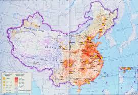 China Physical Map by China Population Map China Travel Map