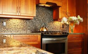 decorating unique bullnose tile backsplash with brown kitchen