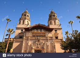 Mediterranean Style Mansions Hearst Castle A Mediterranean Style Mansion Atop A Hill Near San