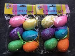 glitter easter eggs 12 x easter glitter eggs easter bonnet decorating decorative eggs