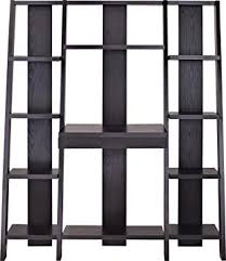 amazon com altra furniture ladder bookcase with desk espresso