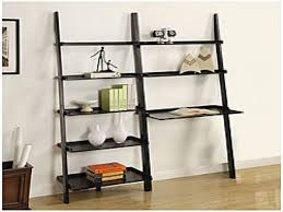 Leaning Bookshelf With Desk Furniture Home Trend 3 Shelf Bookcase Target 75 With Additional